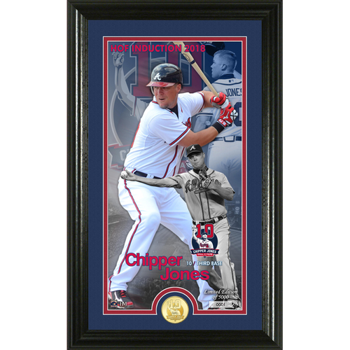 Photo of Serial #1! Chipper Jones 2018 National Baseball Hall of Fame Induction Supreme Bronze Coin Photo Mint