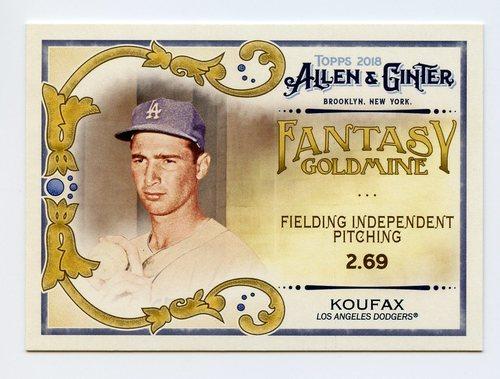 Photo of 2018 Topps Allen and Ginter Fantasy Goldmine #FG4 Sandy Koufax