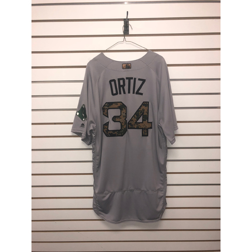 Photo of David Ortiz Team-Issued 2016 Memorial Day Road Jersey