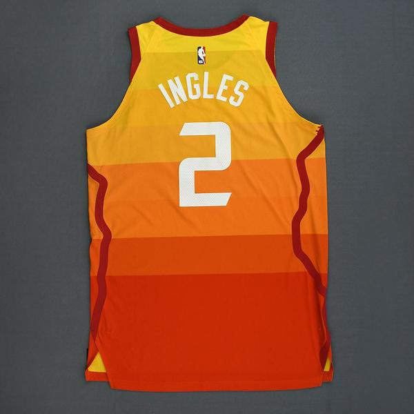 quality design d0093 a541f Joe Ingles - Utah Jazz - Game-Worn City Edition 1st Half ...