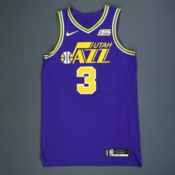 Ricky Rubio - Utah Jazz - Game-Worn Classic Edition 1986-96 Road Jersey - Double-Double - 2018 ...