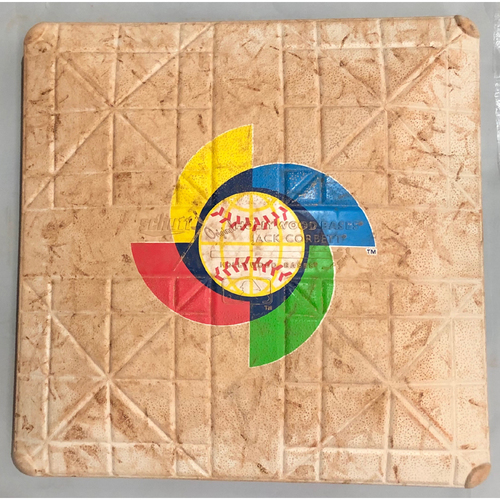 Photo of 2017 World Baseball Classic Game Used Base- 1st Base (Venezuela at Italy)
