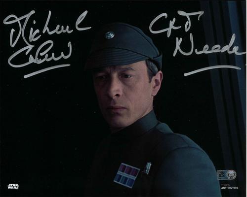 Michael Culver As Captain Needa 8X10 AUTOGRAPHED IN 'SILVER' INK PHOTO