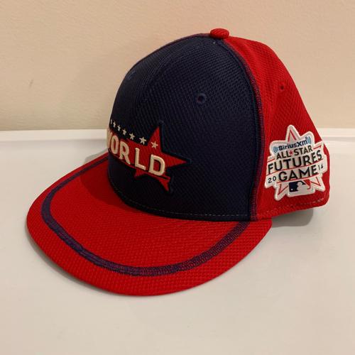 Photo of 2014 All Star Futures Game -  Game Used Cap  - Dariel Alvarez (Baltimore Orioles) Size - 7