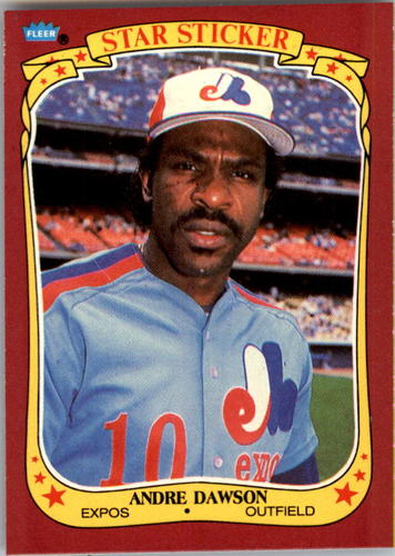 Photo of 1986 Fleer Star Stickers #32 Andre Dawson
