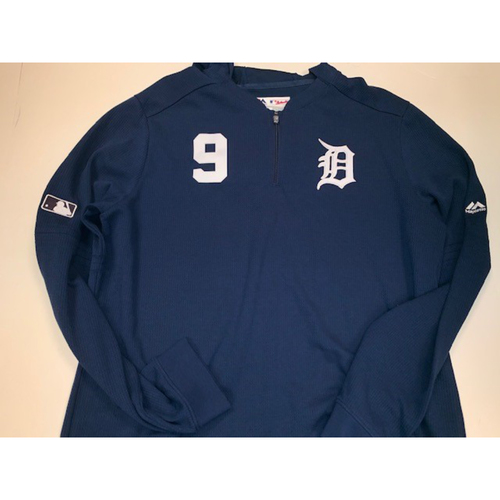 Team-Issued Pull Over Waffle Shirt: Nicholas Castellanos