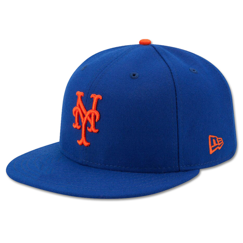 Photo of J.D. Davis #28 - Pete Alonso Sets Single-Season Rookie HR Record - Game-Used Blue Hat - Mets vs. Braves - 9/28/19