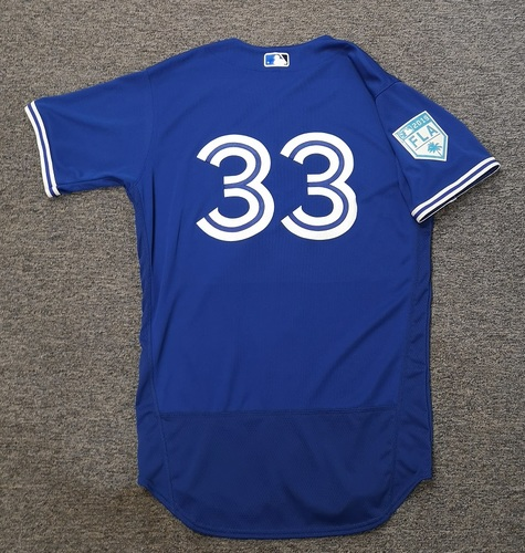Photo of Authenticated Team Issued 2019 Spring Training Jersey - #33 Jackson McClelland. Size 42