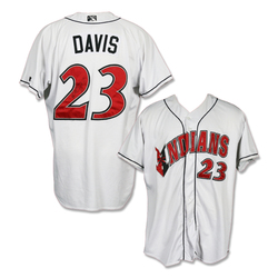 Photo of #23 Rookie Davis Autographed Game Worn Home White Jersey