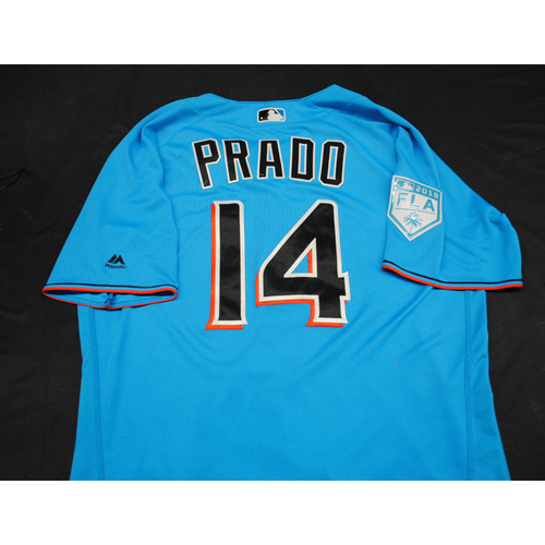 Photo of Game-Used 2019 Spring Training Jersey: Martin Prado #14 - Size: 44