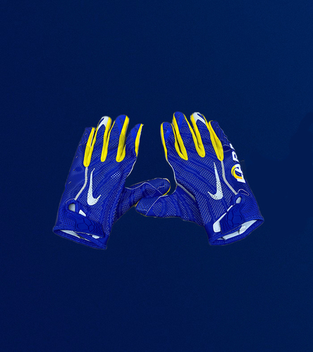 Photo of Tyler Higbee Game Used Gloves - (11/15/2020 VS. Seattle Seahawks)
