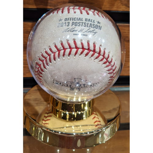 Photo of 2013 ALDS Game 1 Tampa Bay Rays vs. Boston Red Sox October 4, 2013 Game Used Baseball