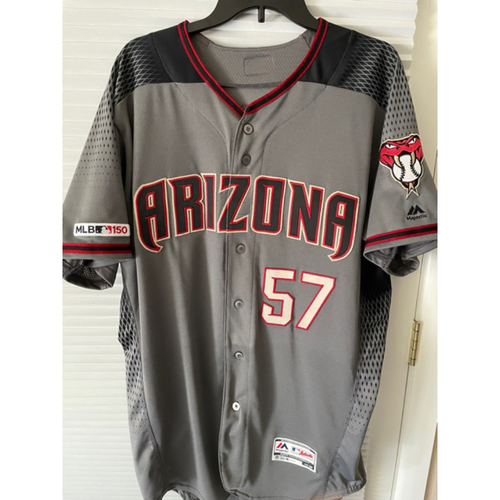 Photo of Arizona Diamondbacks Top 20 Prospect Jon Duplantier 2019 Team-Issued Road Gray Jersey (Size 46)