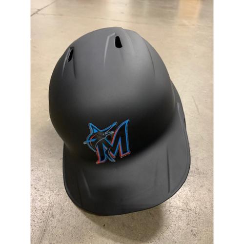 Photo of 2021 MLB Draft Used Helmet: Miami Marlins