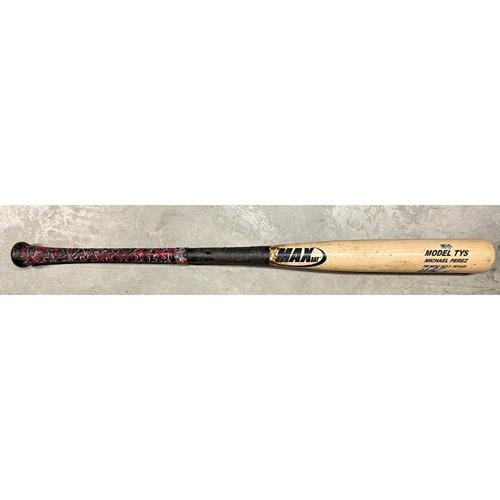 Photo of Rays Baseball Foundation: Game Used Autographed Broken Bat - Michael Perez - Rookie Season - July 26, 2018 at BAL
