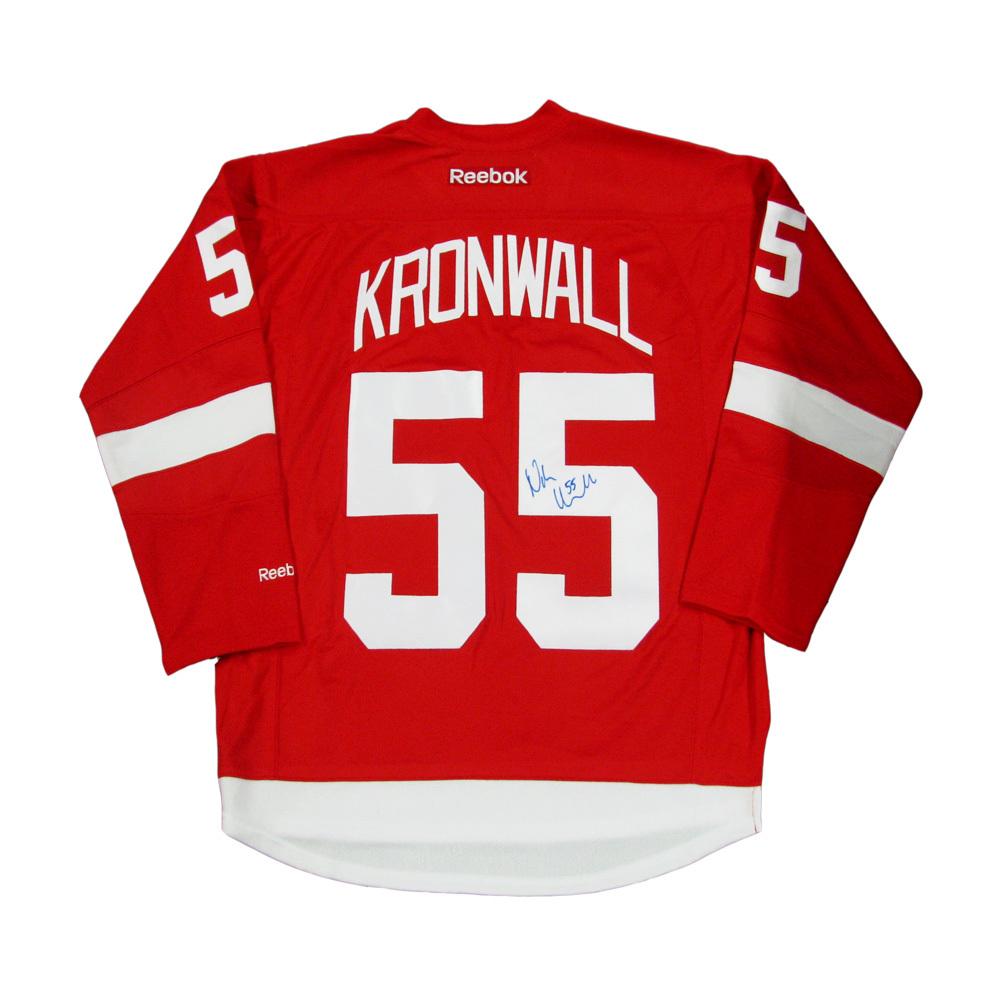 NIKLAS KRONWALL Signed Detroit Red Wings Red Reebok Jersey