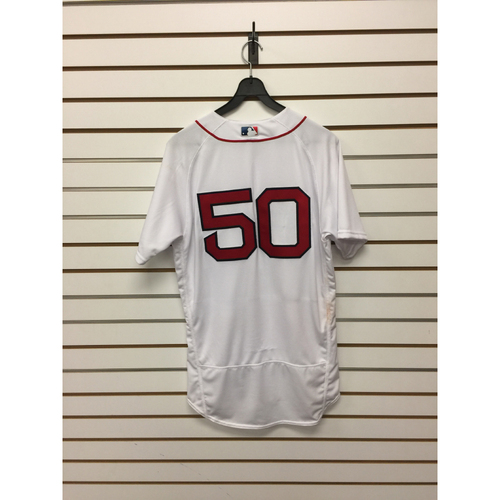 Mookie Betts Game-Used April 3, 2017 Opening Day Home Jersey