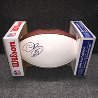 HOF - BUCCANEERS DERRICK BROOKS SIGNED PANEL BALL