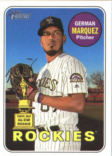 Photo of 2018 Topps Heritage #348 German Marquez