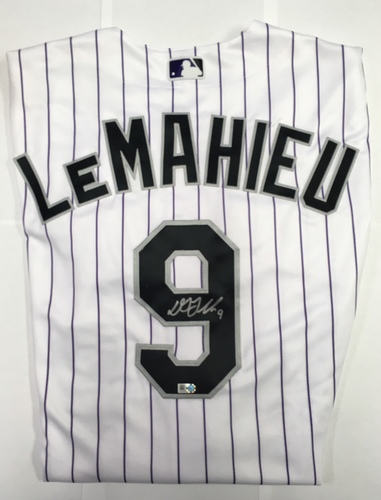 Photo of DJ LeMahieu Autographed Authentic Rockies Jersey