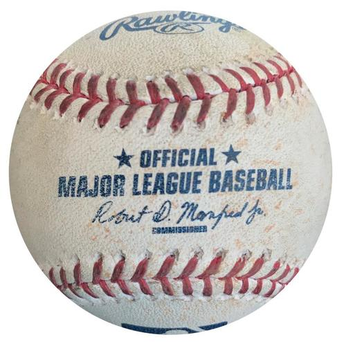 Photo of Game-Used Baseball from Pirates vs. Brewers on 7/20/16 - Hernan Perez Single