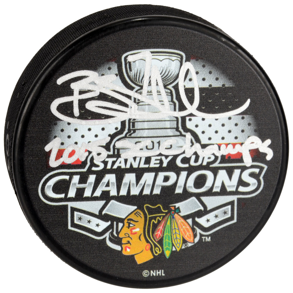 Brent Seabrook Chicago Blackhawks 2015 Stanley Cup Champions Autographed 2015 Stanley Cup Champions Logo Hockey Puck with 2015 SC Champs Inscription