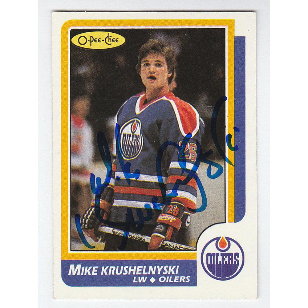 Mike Krushelnyski Autographed 1986-87 O-Pee-Chee Hockey Card