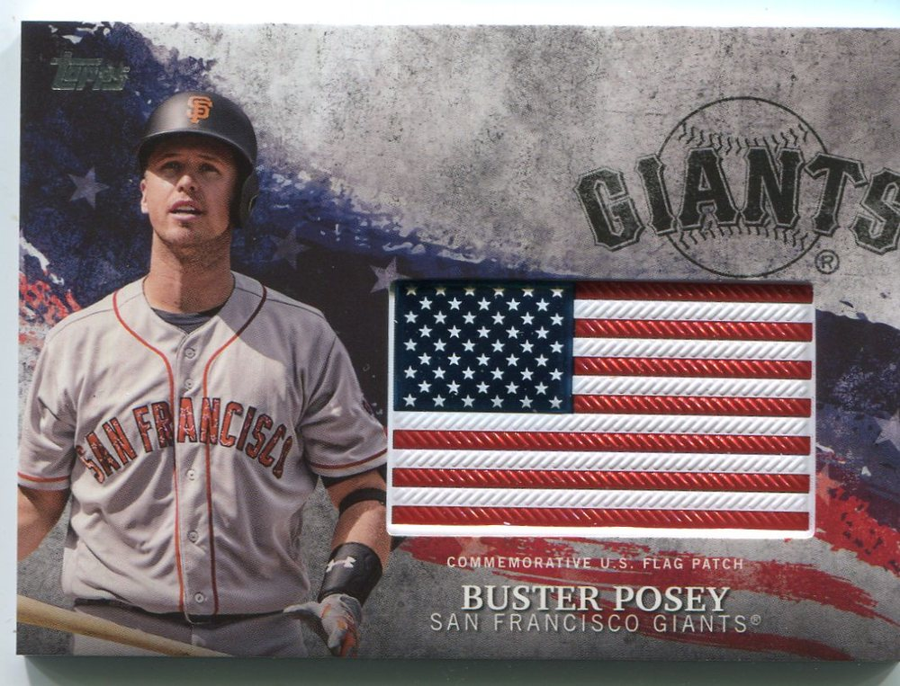 2018 Topps Independence Day U.S. Flag Relics #IDMLBP Buster Posey