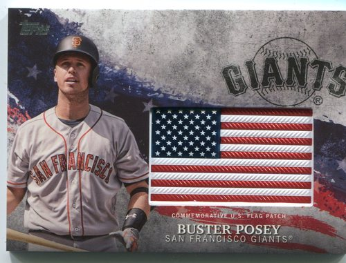 Photo of 2018 Topps Independence Day U.S. Flag Relics #IDMLBP Buster Posey