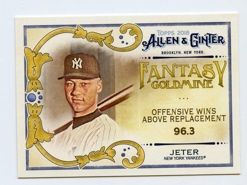 Photo of 2018 Topps Allen and Ginter Fantasy Goldmine #FG8 Derek Jeter