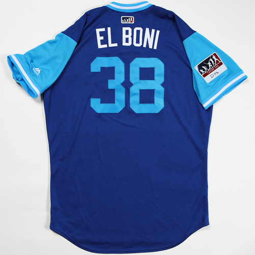"Photo of Jorge ""El Boni"" Bonifacio Kansas City Royals Game-Used Jersey 2018 Players' Weekend Jersey"