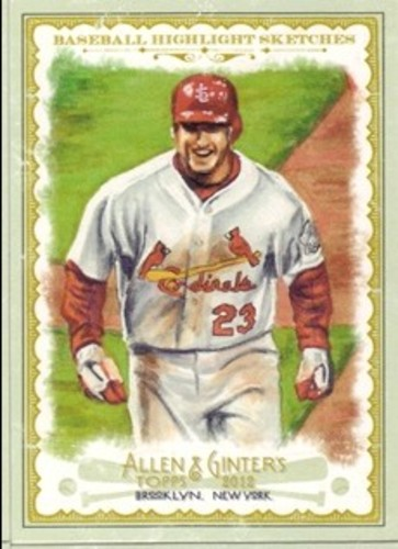 Photo of 2012 Topps Allen and Ginter Baseball Highlights Sketches #BH16 David Freese