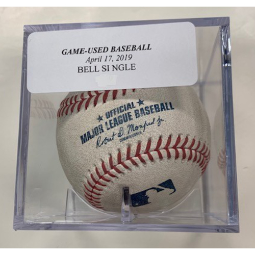 Photo of Game-Used Baseball: Josh Bell Single