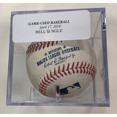 Game-Used Baseball: Josh Bell Single