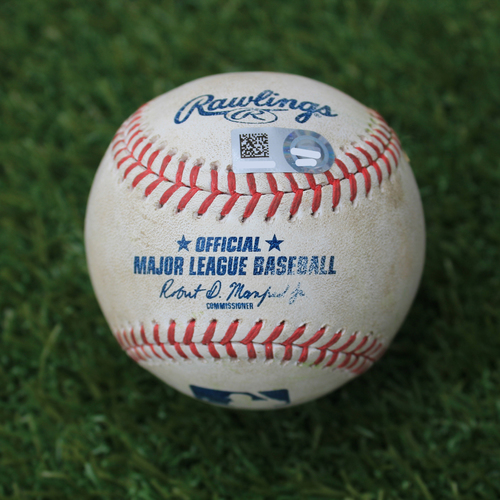 Photo of Game-Used Baseball: Brock Holt 96th Career Double and 180th Career RBI (BOS @ KC - 6/4/19)