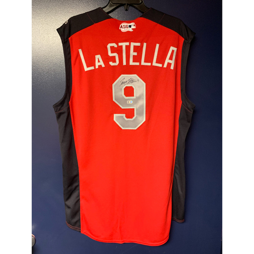 Tommy La Stella 2019 Major League Baseball Workout Day Autographed Jersey