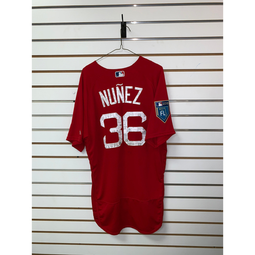 Photo of Eduardo Nunez Team Issued 2018 Spring Training Jersey