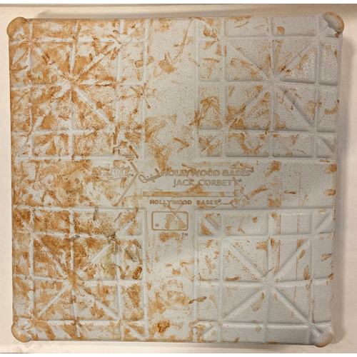 Photo of 2019 NLDS Game Used Base - First Base Used During 4th, 5th and 6th Inning - 10/4/19