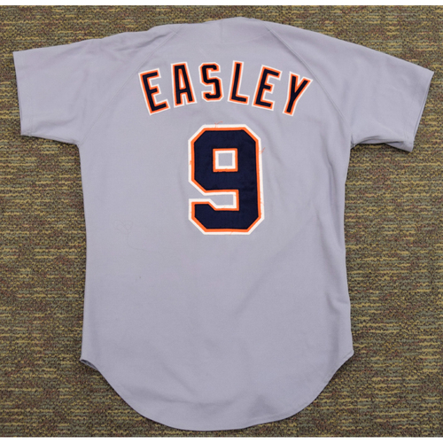 Photo of Damion Easley Clubhouse Issued Detroit Tigers #9 Road Jersey (NOT MLB AUTHENTICATED)