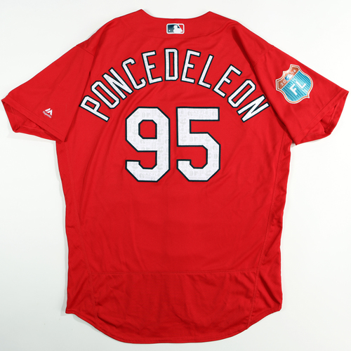 Photo of 2016 Spring Training - Spring Training Game Used Jersey - Daniel Poncedeleon (Cardinals)- Size- 48