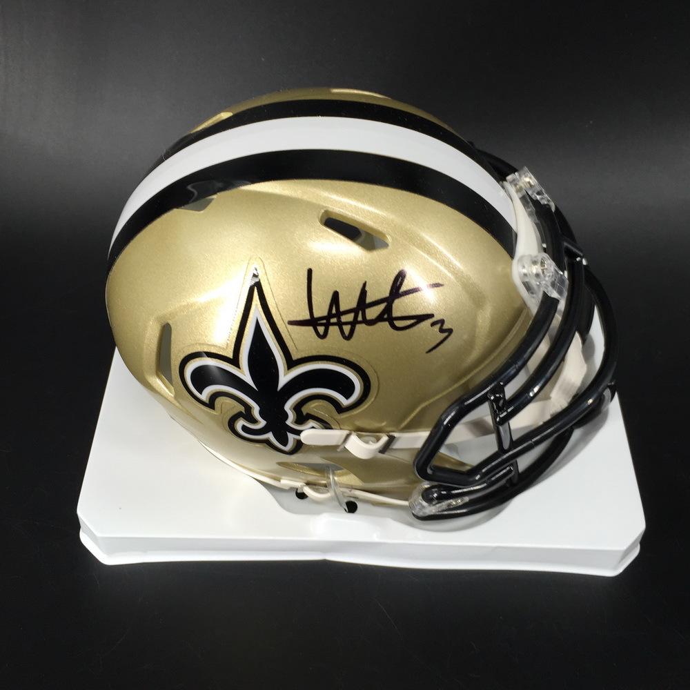 NFL - Saints Wil Lutz Signed Mini Helmet
