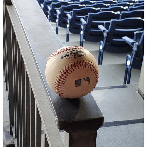 Photo of 2020 Phillies Game-Used Baseball - Aaron Judge 3-Run Home Run
