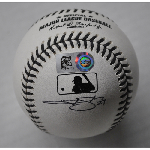 Photo of MLB Opening Day Auction Supporting The Players Alliance - Autographed Black Lives Matter Baseball - Trevor Story