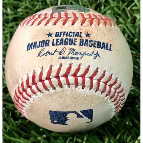 Photo of Game Used Baseball: Willy Adames double off Paul Fry - August 25, 2020 v BAL