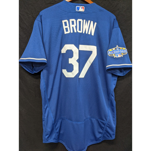 Photo of Brant Brown Team-Issued 2020 Spring Training Jersey with 2020 All Star Patch
