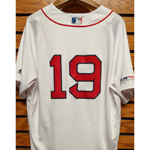 Photo of Jackie Bradley Jr. #19 Game Used Home White Jersey