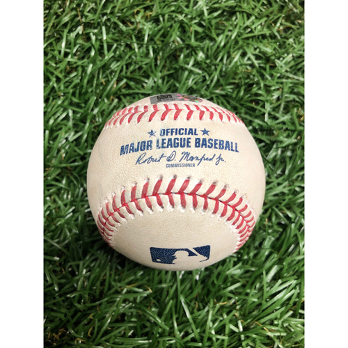 Photo of Spring Training Game Used Baseball: Pablo Sandoval single off Andrew Kittredge - Top 3 - February 28, 2021 v ATL