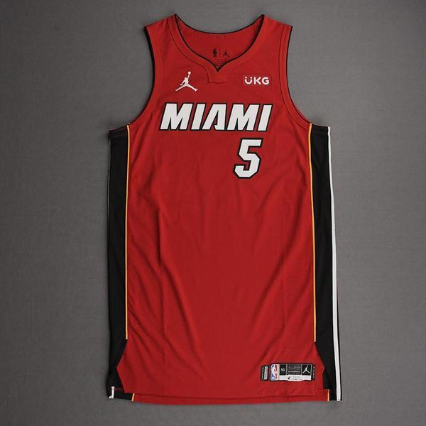 Image of Precious Achiuwa - Miami Heat - Game-Worn - Statement Edition Jersey - Christmas Day 2020