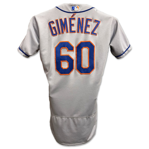 Photo of Andres Gimenez #60 - Team Issued Road Grey Jersey with Seaver Patch - 2020 Season