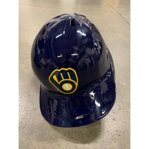 Photo of 2021 MLB Draft Used Helmet: Milwaukee Brewers